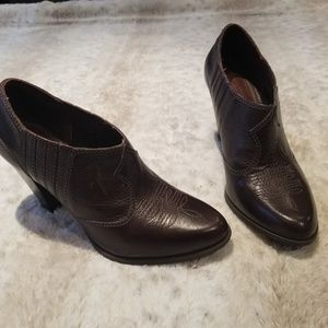 Giani Birnini Dark Brown Leather Ankle Boots